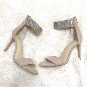 Vince Camuto Jeweled Ankle Strap Heels Sz 7 1/2